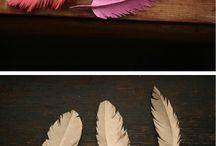 Paper feathers / Federn aus Papier