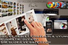 Mobil ve Tablet cihazlarla Uyumlu Resim Slider ve Galerileri