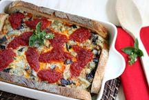 Pasta, pizza y cocas