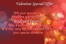 valentine's day / Make your Valentine's Day special by gifting a bright white smile to your spouse only for $199/- Avail our benefit today.