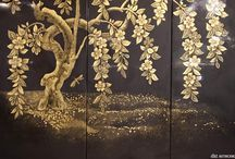 Gilding and Antique Effect Mirror