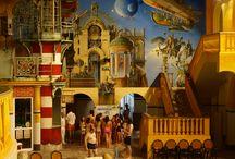 Wall painting HAPPY JOURNEY ( ARTKLASIK ) / WWW.Artklasik.seznam.cz