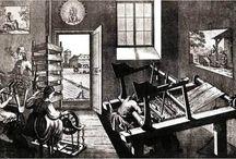 Early European weavers in art