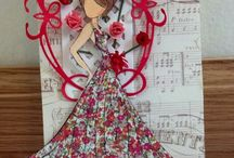 Prima Dolls / Prima Mixed Media Art Dolls / by Cynthia Ladybugstamper