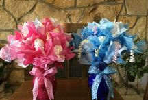 Diaper Bouquet / Baby Shower or Gender Reveal Table Decorations