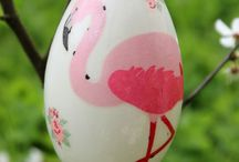 Big Easter goose eggshells, blow out Easter eggs by Rekoko. / Easter empty, goose eggshells decorated with the decoupage method. Blown out eggs can be preserved for years after they're made (without the egg white or yolk, the eggs won't spoil).