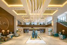 Résidence Nanjing / Décoration Intérieur - Chic - Elégant - Designer - Circulation - Chambre - Accueil - Espace de jeux - Vestiaire - Espace Soin - Piscine