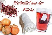 Heilmittel aus der Küche / Heil- und Hausmittel aus der Küche. Schnell Wehwehchen lindern mit Säfte,Tees, Zwiebeln, Kartoffeln, Wickeln, Wärmekissen, Wärmflaschen, Kühlbeutel