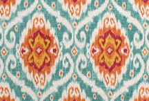 Ikat upholstery fabric / by Alicia Barstow