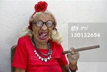 Smoking old ladies