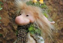 Tiny Trolls / OOAK Hand sculpted Tiny Trolls inspired by Norse mythology, Scandinavian folklore, nature and the seasons by Ksheyna Nightswood.