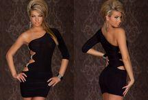Sexy minišaty s jedním rukávem na párty černé