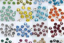buttons, crystals, studdes