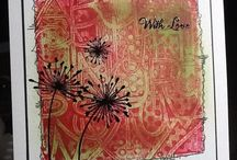 Cards...Gelli prints