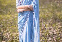 Mimi Pure Silk-Chiffon Hand Embroidered Saree