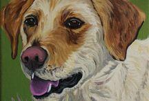 Pet Portraits by Nikki Cherry / the preppy possum / #pets #painting #portrait #petportrait #dogportrait #petpaintings