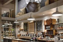 Industrial coffee shops