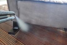Cleaning sofa Καθαρισμός σαλονιών και με ατμό όπου απαιτείται.