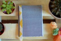 Cuadernos / Cuadernos artesanales forrados con tela.