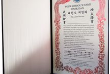 Custom Korean Certificates / Custom Japanese Martial Arts Certificates. Layout Design & Print by Asian Martial Arts Design. Text translated with native Korean translators. Provide us your school's logo & certificate text. We will translate, design and print for you. See info at: http://www.asianmartialartsdesign.com/goldcertificates.htm