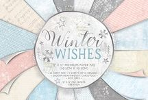 First Edition Winter Wishes / Get ready to be under the spell of First Edition's new paper pad, 'Winter Wishes'. Beautifully delicate, Katie Pertiet has designed a selection of papers embedded with festive illustrations in a distressed style. The muted pastel colour palette of pink, blue and cream perfectly emphasises the elegance of winter and the Christmas period.