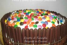 Torta panna cioccolato smarties