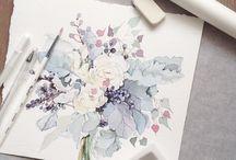 watercolour ;