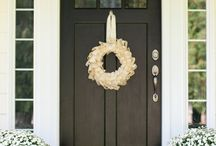 Front Door Inspiration / Nothing like a statement front door to complete the look.