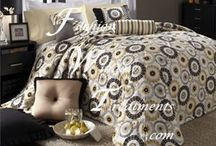 Custom Bedding / We make custom bedding including bed skirts, duvet covers, comforters, bedspreads and shams in our fabrics or yours.