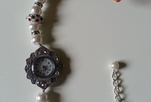 Beaded wrist watch