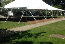Our tents / Both pole and frame tents.