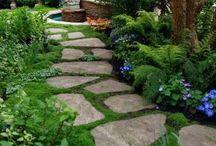 záhrada chodníky