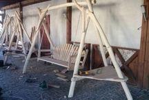 nasze dębowe huśtawki ogrodowe / wykonywane na zamówienie z drewna dębowego. niedługo również stoły