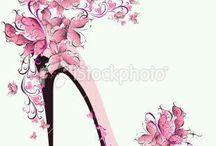 Zapatos floral y dibujos