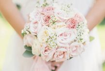 Soft pink wedding with chocolate accents