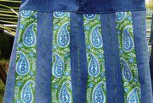 sukně z jeans