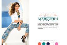 Esencia Marroquí / El sol y los paisajes exóticos de oriente inspiran nuestra nueva colección. Colores brillantes, diseño atrevidos y texturas sensuales hacen parte de la tendencia de la temporada.