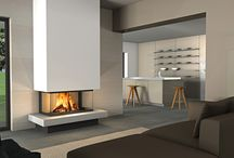 Piazzetta Wood + Pellet Burning Fireplaces / Closed combustion fireplaces