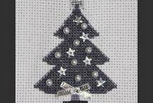 Punto de cruz - Navidad