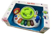 Oyuncak Direksiyonlu Piyanolu Bebek Oyuncağı  Işık Müzik Sesli