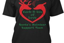 Christmas T-Shirts / In the spirit of the Christmas Season, let's not forget the love and life of our Reindeer, who have brought Holiday Cheer to our homes...