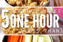 Tasty Treats -- School Lunches / Healthy fun ideas for packed lunches