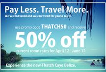 Special Travel Offers / Thatch Caye Resort special offers and packages.  / by Thatch Caye Resort Belize