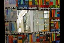 Mosaic Mirrors / Great ideas for our new bathroom.