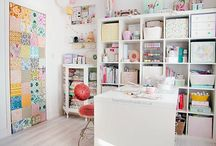 Lovely Spaces / Ideas for sewing rooms and how to store or display quilts to fit any home decor / by Aurifil