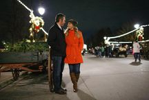 Henry Ford Greenfield Village Holiday Nights Engagement Session / A beautiful, winter, Christmas inspired, love-filled engagement session during Holiday Nights at The Henry Ford, Dearborn, MI.