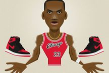Basketball Sneakers / Basketball vector characters with their iconic sneakers