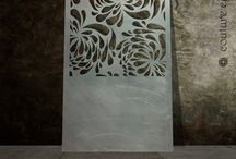 Floral laser cut metal screens
