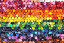 Colors of the Rainbow / I'm drawn to colors...rainbow colors make my heart sing!