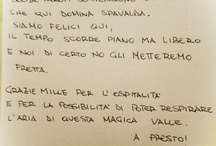 Pietraviva's diary / At Pietraviva we have the guest's book and here you can find what our special friends write on it!